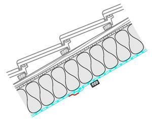 naturbauhof luftdichtung und dampfbremse der geb udeh lle bei zwischensparrend mmung. Black Bedroom Furniture Sets. Home Design Ideas